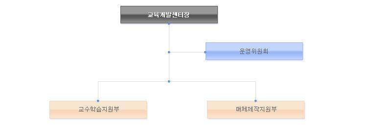 원격평생교육원장 <- 운영위원회 -> 원격평생교육팀